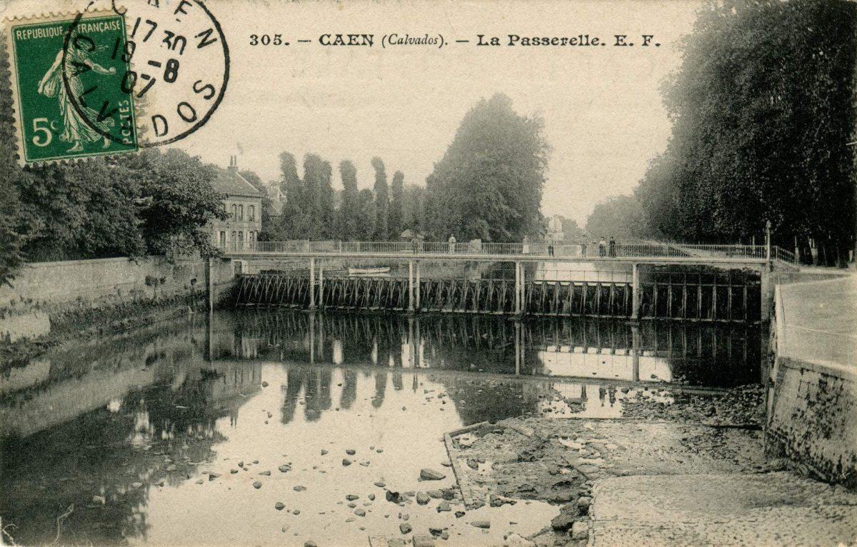 Passerelle sur l'Orne, (musée de Normandie)